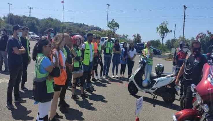 """Türkiye'de ilk """"Motosiklet Güvenli Sürüş Eğitimi"""" projesi Alanya'da başladı"""