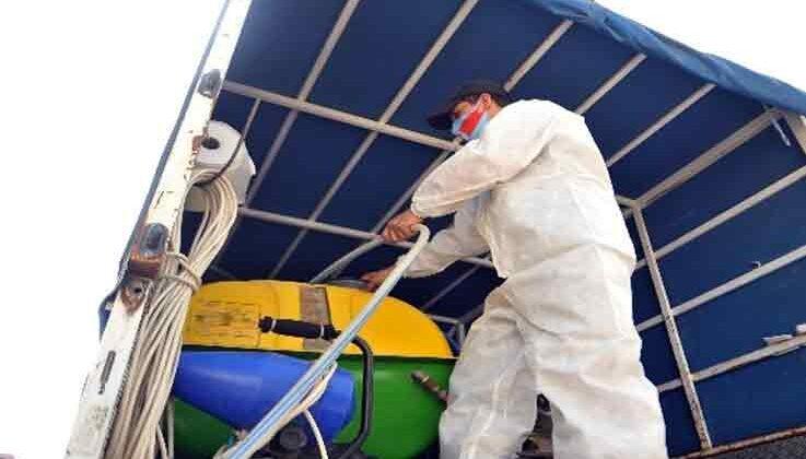 Kemer'de dezenfekte çalışmalarına ara verilmiyor