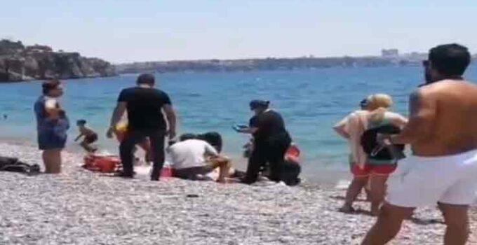 Konyaaltı sahilinde 70 yaşındaki kişi boğuldu