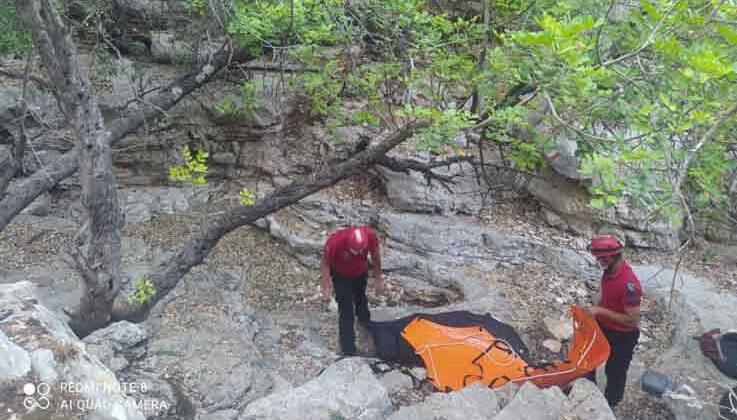 Likya yolunda yürüyüş yapan gurbetçi, kayalıklardan düşerek hayatını kaybetti