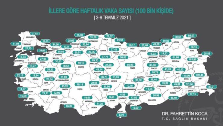 Antalya'da 100 bin kişide görülen vaka sayısı yaklaşık yüzde 82 arttı