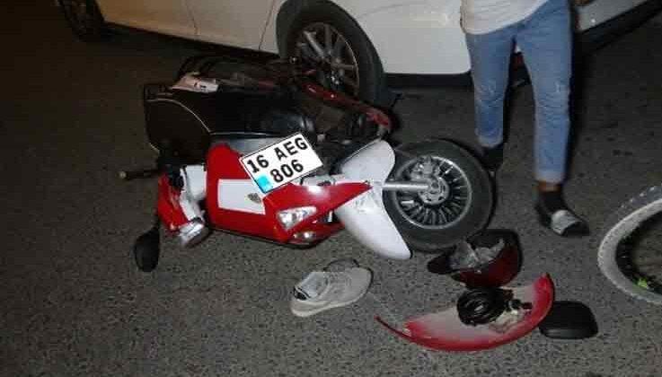 Otomobil motosikletle çarpıştı: 1 yaralı