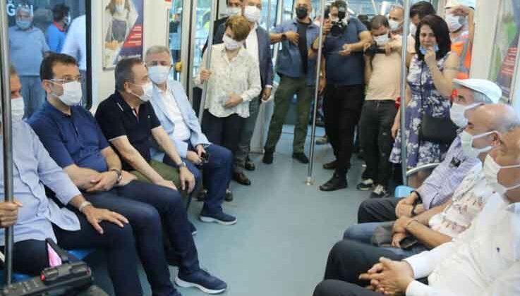 Antalya'da 3. Etap Raylı Sistemin test sürüşü CHP'li 10 büyükşehir belediye başkanının katılımıyla başladı