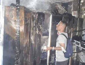 Otel lojmanında çıkan yangın korkuttu