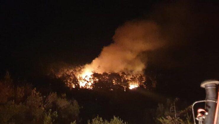Kovada Milli Parkı'nda yangın başladı